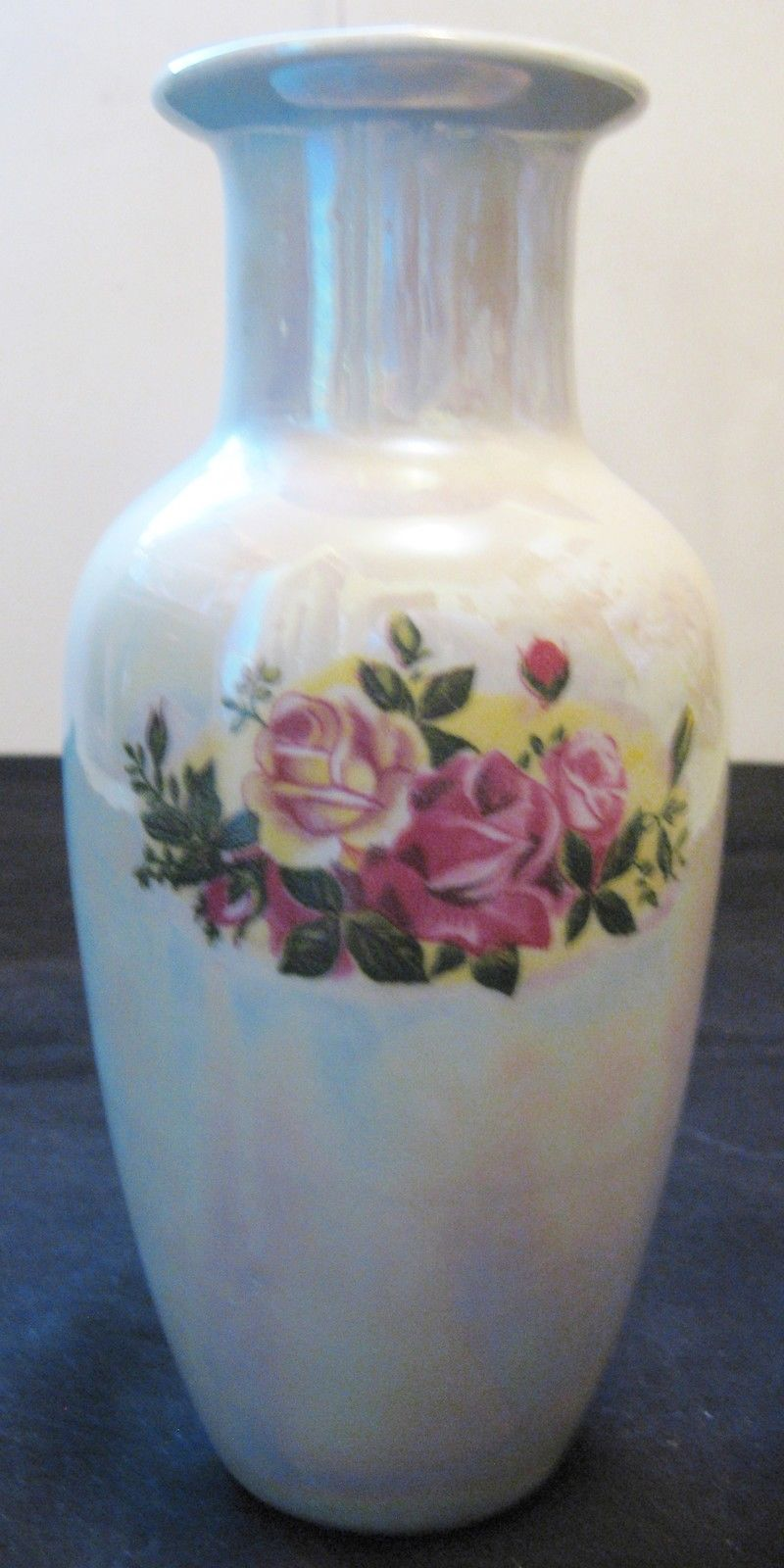 Antique Chinese Western Export Famille Rose Foil Porcelain Vase,19th Century,NR