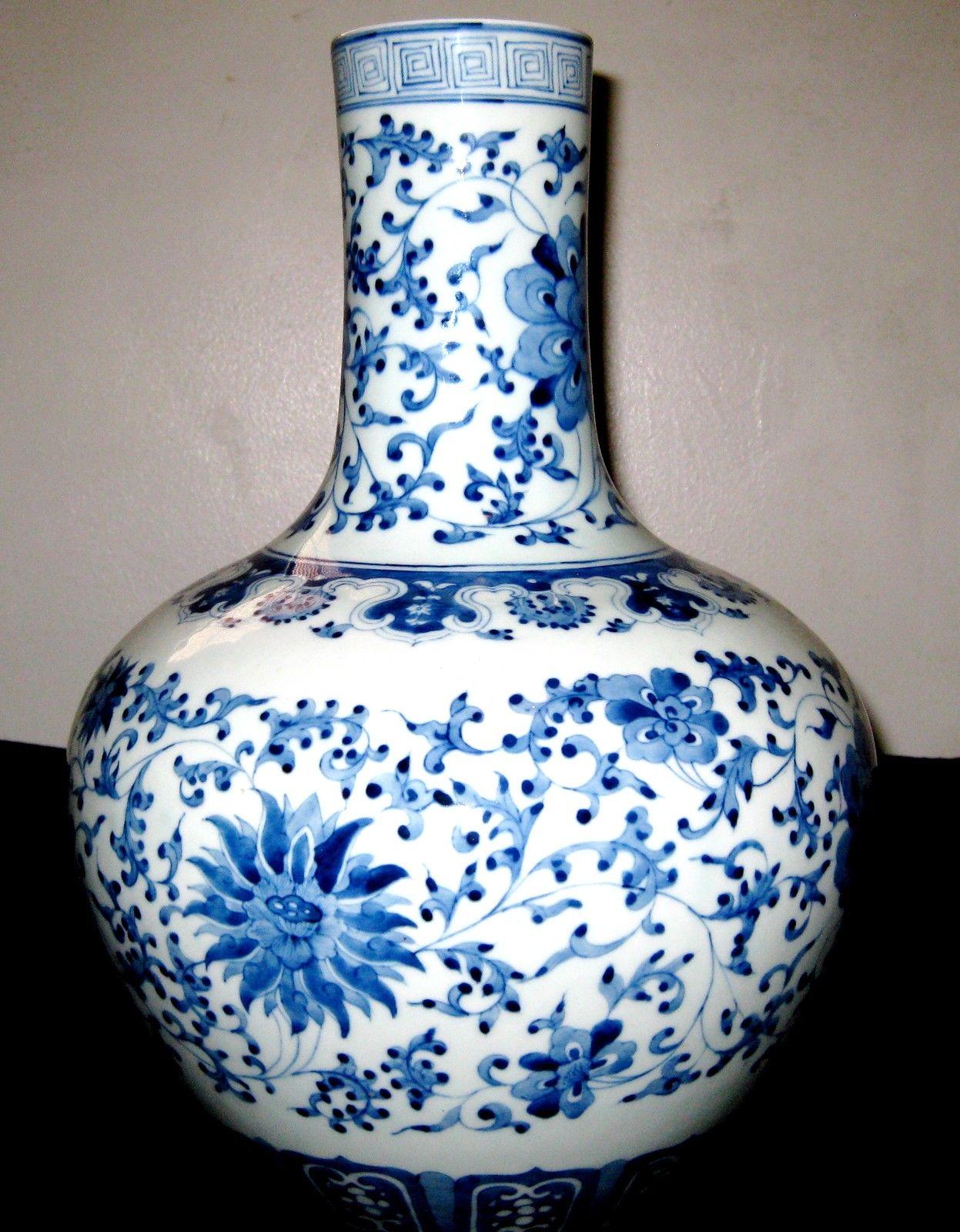 Antique chinese blue white 7 immortals porcelain vase dao quang antique chinese porcelain blue white vase qianlong mark reviewsmspy