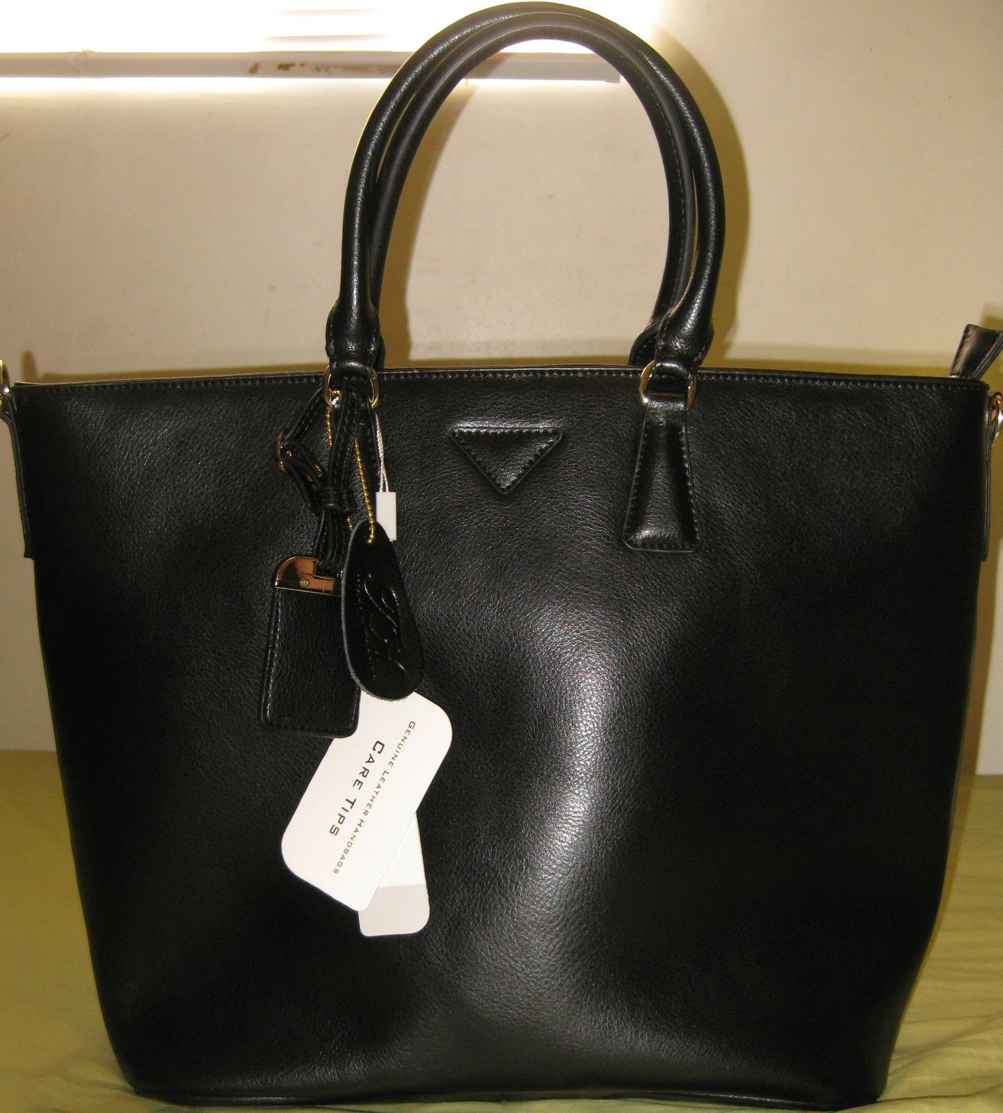 ITALIAN GENUINE NAPPA LEATHER HANDBAGS BLACK COLOR